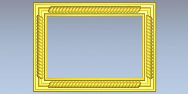 Free Frame 3D ArtCam STL Vectric Aspire Vcarve 1198
