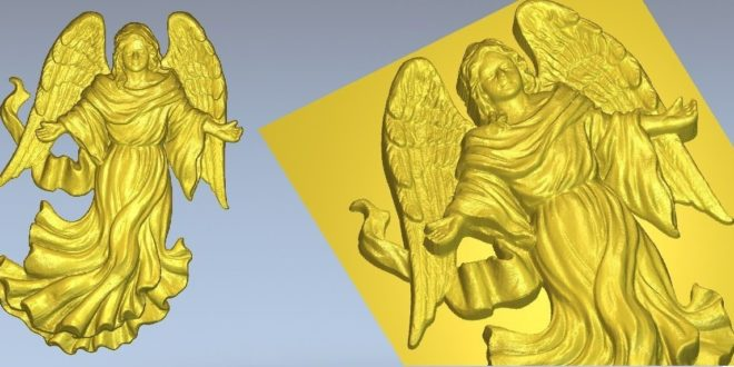 Free Angel STL File Relief to CNC Machines 1202