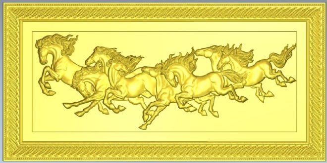 Horses 3D File STL Frame 1203
