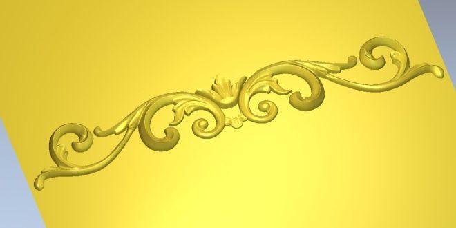 Free Decor 3D Floral Ornament 1204