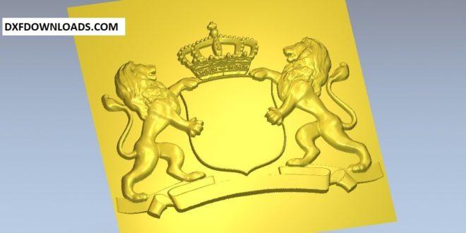 Free Emblem Lion 3D STL 1205