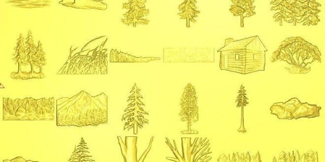 Tree Relief Decor STL (Low Resolution) 1207
