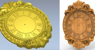 Clock Wall Decor STL 3D Print Cnc Router 1211