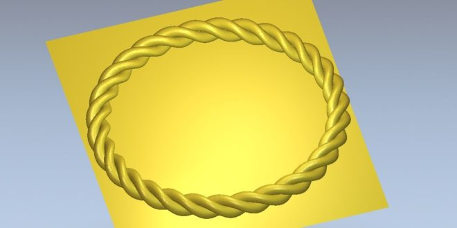 Free braided circle relief 1216