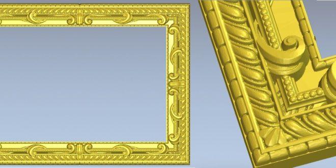 Free Frame File 3D STL ArtCam Aspire Vcarve 1224