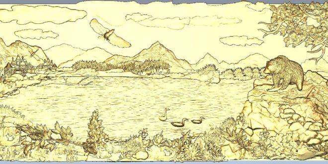 Nature landscape 3d relief stl 1239