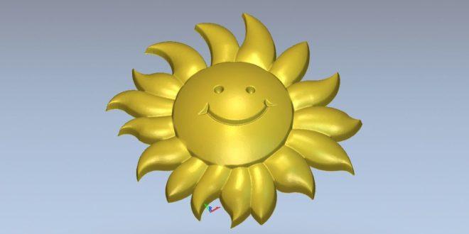 Free Sun Cartoon 3D Stl Relief 1246