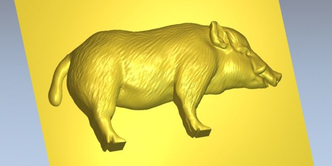 Free 3D Relief Boar Animal Cnc Stl File 1271