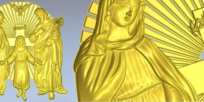 Religious relief Cnc Router 3D Print Model Stl 1276