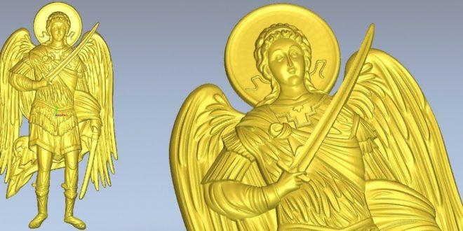 Cnc Router File Archangel Michael 3D Print Relief 1288