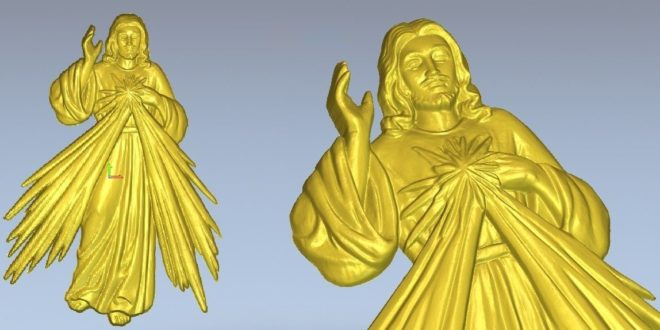 Free Jesus Religious STL File Relief 1289 (Low resolution)