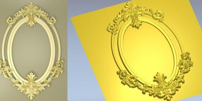 3D Frame Model Relief 1293