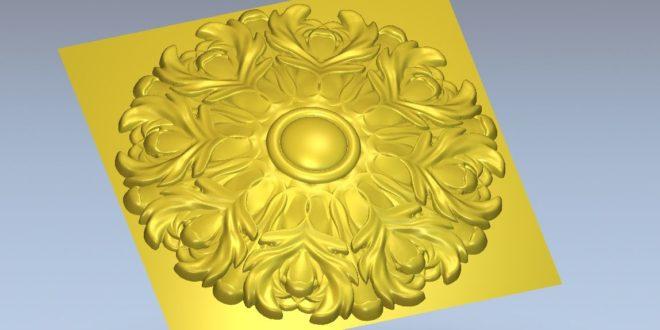 Free Rosette 3D Model STL Cnc Router 3D Print File 1295