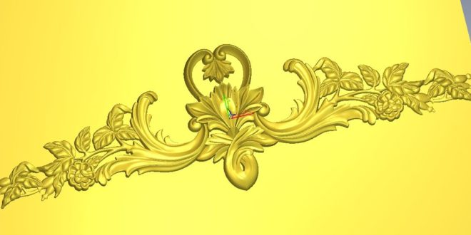 3D Decor Floral File Relief STL ArtCAM Vectric Aspire Vcarve 1297
