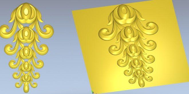 Ornament Decor File 3D Vector Cnc 1300