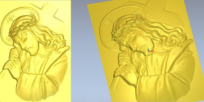 3D Model Jesus Carrying Cross STL 1301