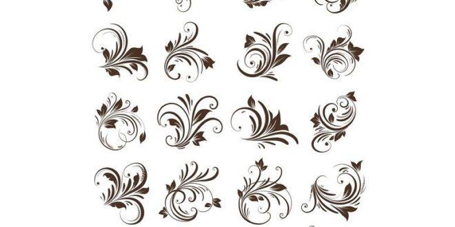 Free Floral Decals Vetor CDR