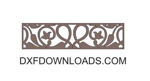 Free Dxf Vector Floral Screen