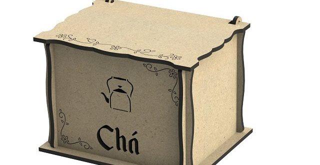 Vector Cnc 6mm box for storing tea bags