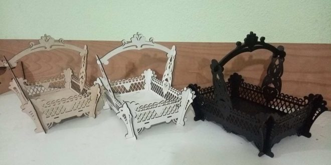 Basket with Handle File Vector Cnc Cut Mdf