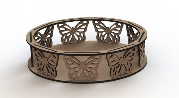 Butterfly Trays Template Cut CNC
