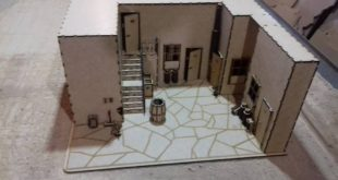 Laser Cut The village of Chaves Model CDR DXF