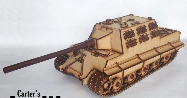 Cnc Laser Cut 3mm Tank War Jagdtiger