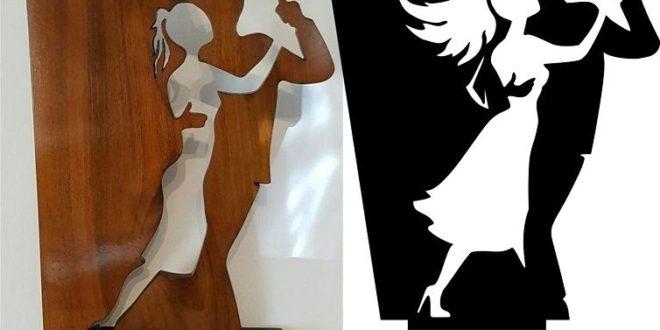 Free Dancers figurine cnc cut cdr dxf file