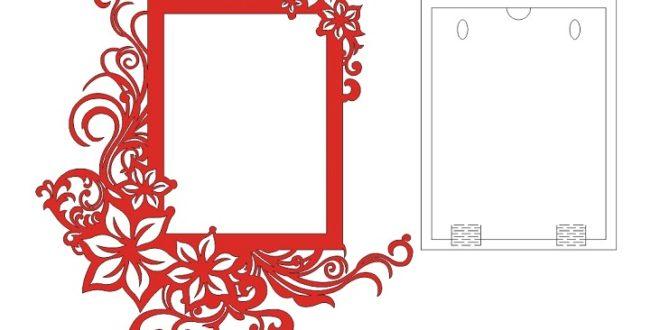 Floral Flower Frame Laser Cut File CDR