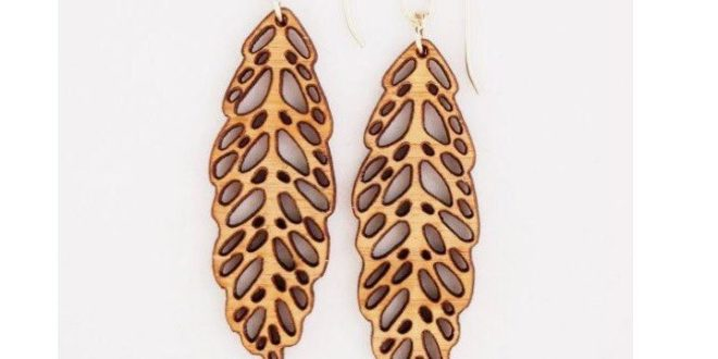 Free CDR Laser Cut Jewelry Earring Leaf