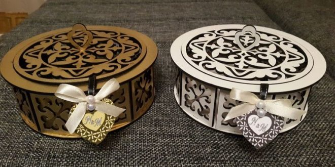 Free Laser Cut Design Round box cdr dxf
