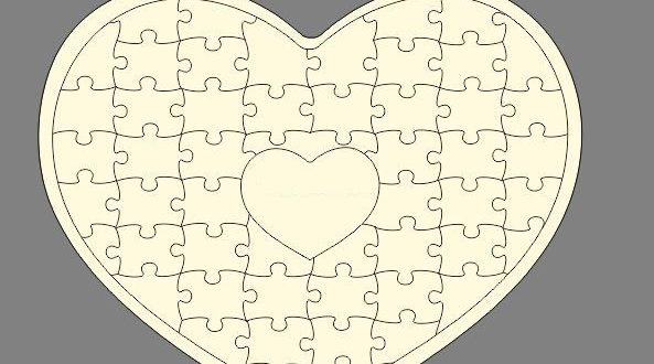 Free Puzzle Heart CDR Vector