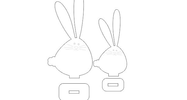 Free Rabbits Laser Cut DXF File