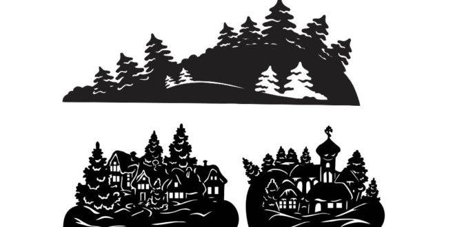 Free Silhouettes Christmas decoration Vector Panels DXF
