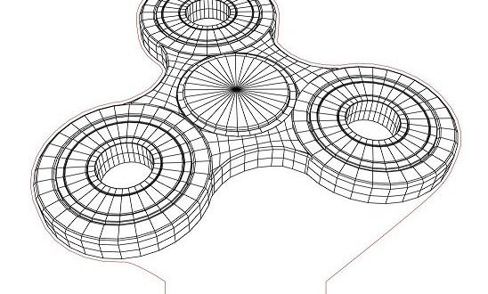 Free Vector Nighlith Lamp 3D illusion Figet Spinner