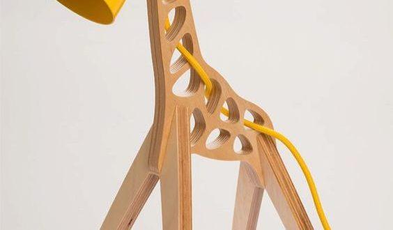 Free Giraffe Lamp Cnc Cut Drawing