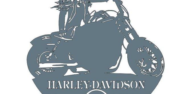 Dxf Cnc Laser Harley Davidson Motorcycle Wall Decor