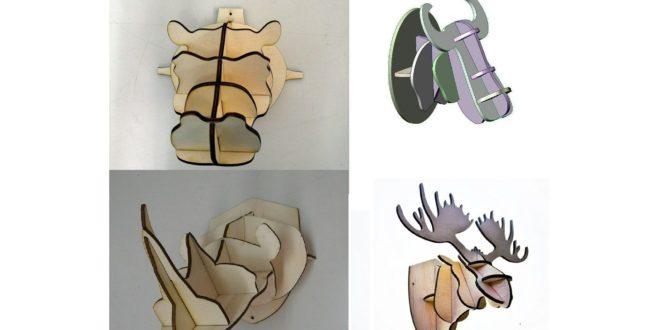 Head 3d Puzzle hippo ox rhino elk