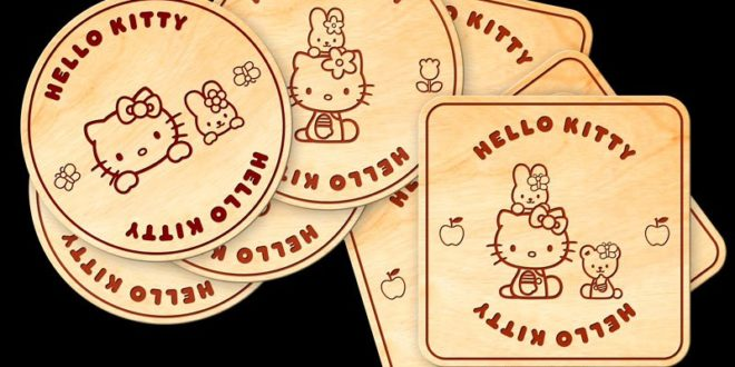 Hello Kitty Free Pack Laser Cut Files DXF CDR