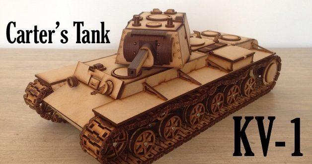 KV-1 war tank laser cut 3mm
