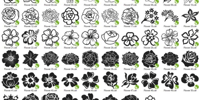 Laser Cut And Engraving Pack 58 Flowers .CDR Files Vectors