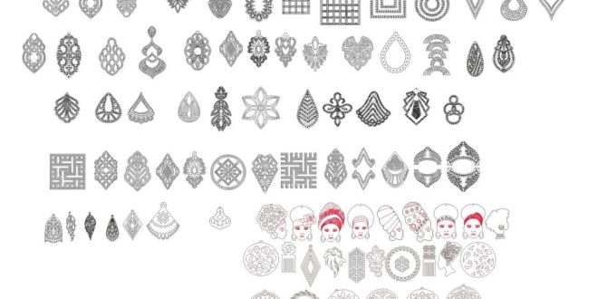 Laser Cut Collection Pack of 50+ jewels CDR Vector