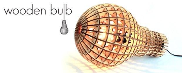 Light Bulb Laser Cut Template 4mm