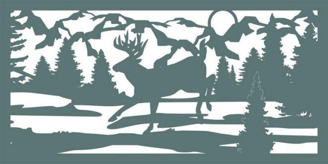 Free Silhouette Cnc File Low Land Deer