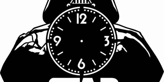 Star Wars Wall Clock Silhouette CDR File Vector
