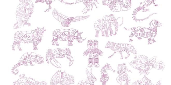 Steampunk Animals Pack Vectors CDR Engraving Cnc Machines