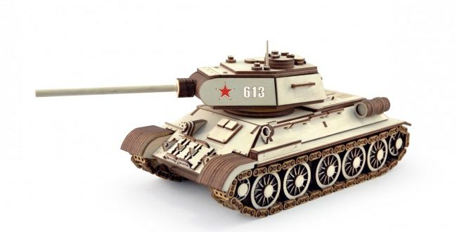 Tank_T-34 3mm Laser Cut with instructions in pdf