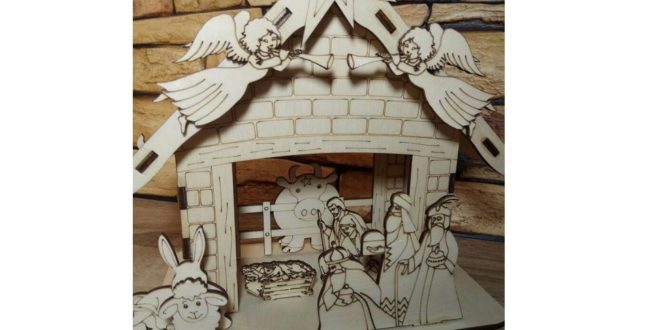 Laser Engraving and Cutting Nativity Scene Birth of Jesus 3 Wise Men Vectors CDR DXF