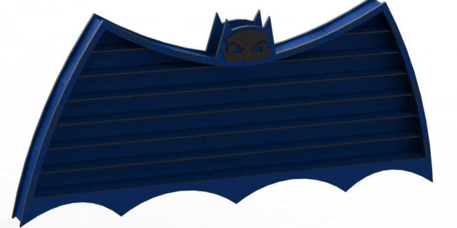 Laser Cut Template Batman Shelf for Toy Cars or Objects