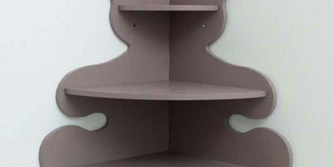 DXF CNC File Angled Bear Shelf MDF Plywood
